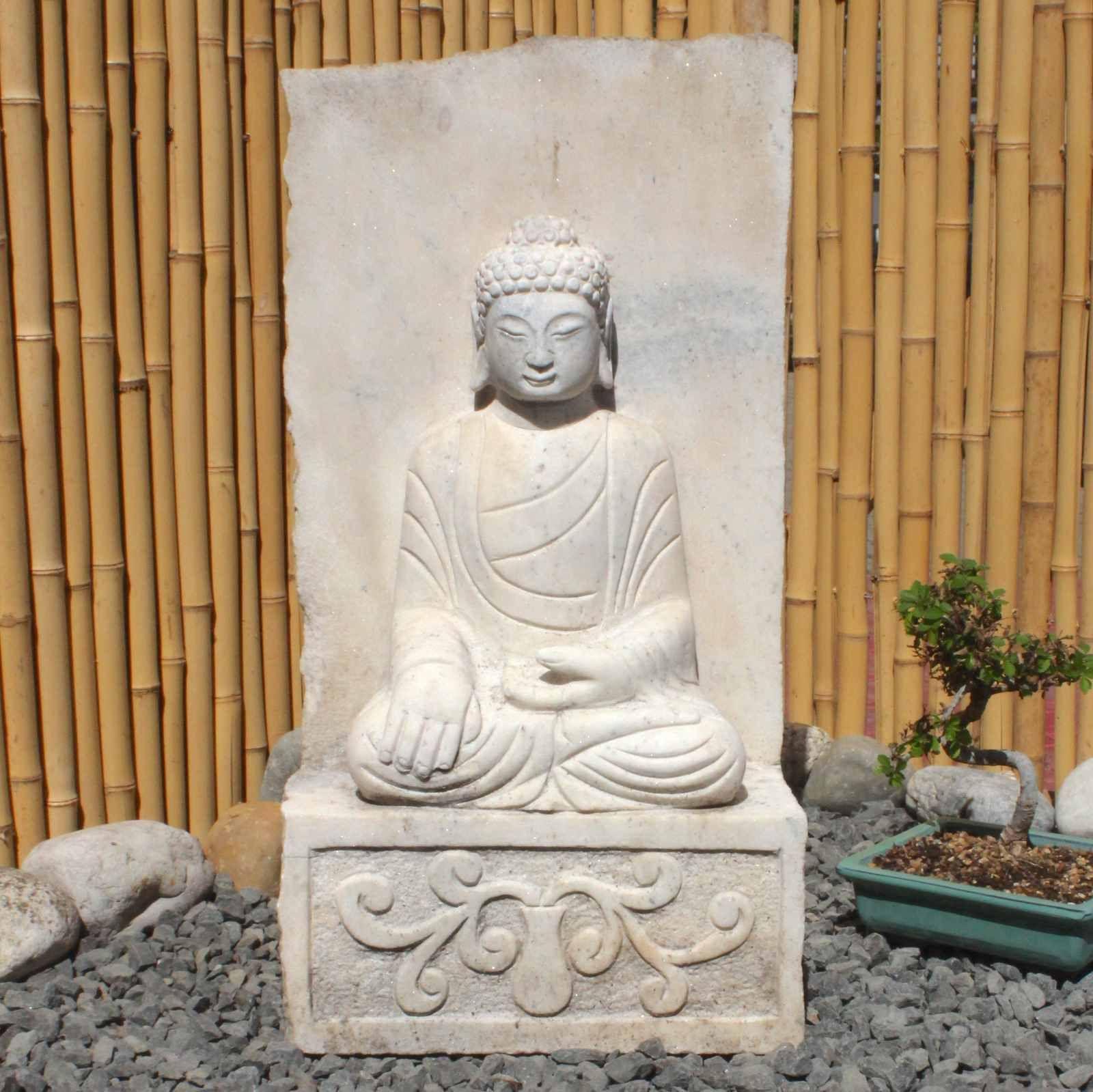 Garten Siddharta Buddha Statue 61cm Marmor Stein In 2020 Statuen Buddha Figur Statue