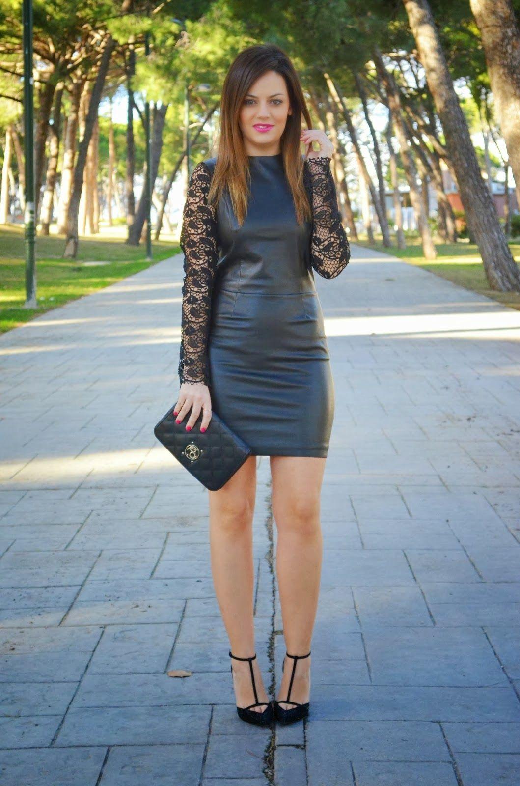 Outfit vestido negro de fiesta