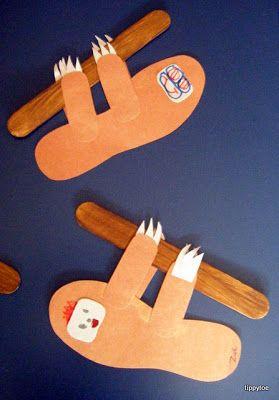 Tippytoe Crafts: Sleepy Sloths   Science   Rainforest crafts