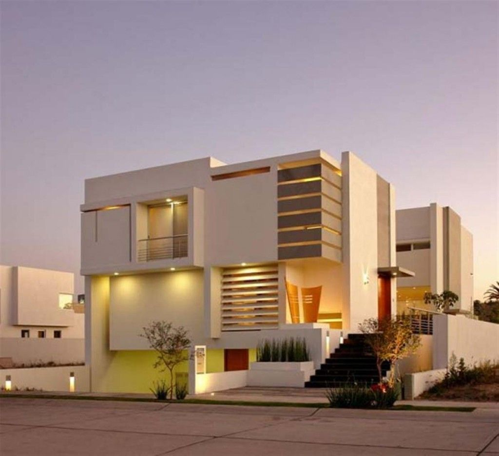 Awesome Contemporary Home Exterior Design Images - Decorating ...