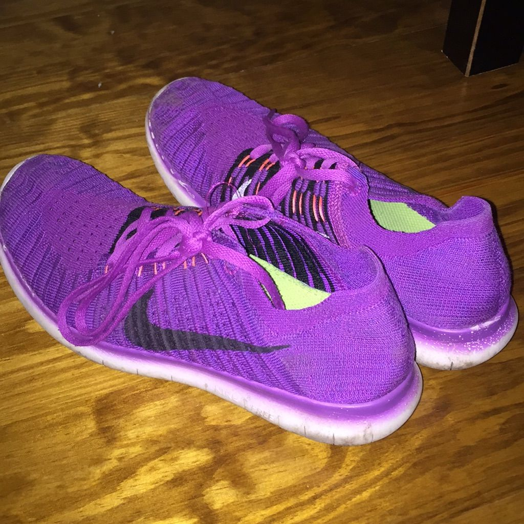 Nike Shoes Womens Purple Nike Flyknit Free Rns Color