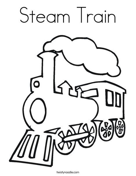 Steam Train Coloring Page From Twistynoodle Com Would Make A Great