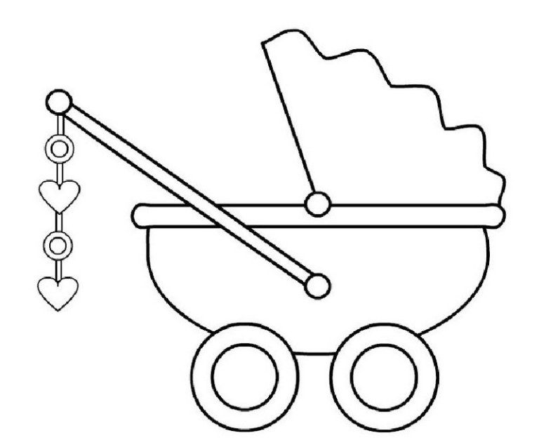 Baby Carriage Coloring Page Taken