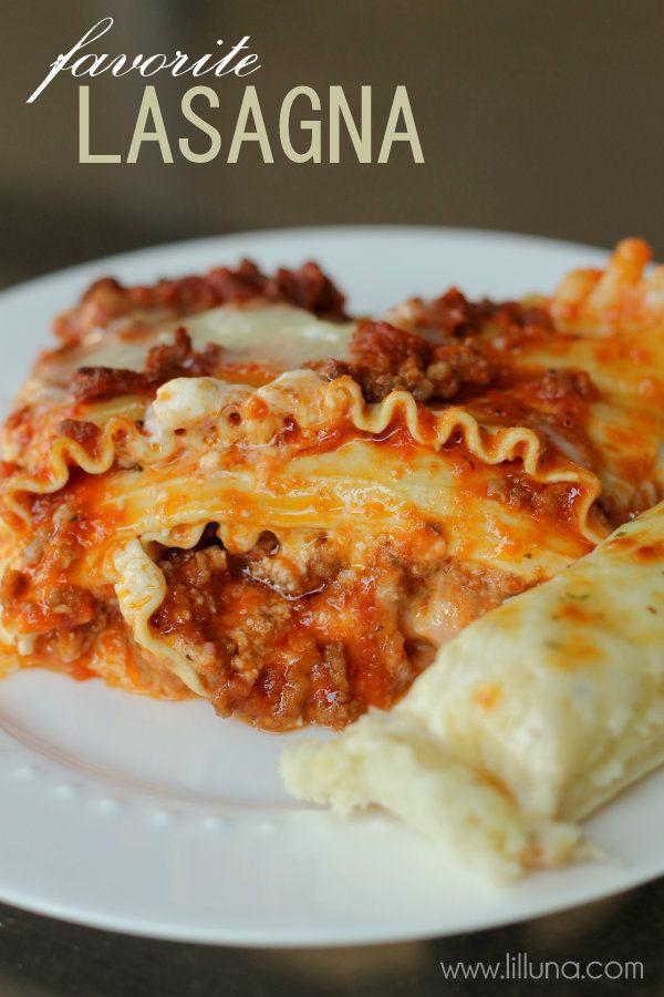Our favorite Lasagna Recipe