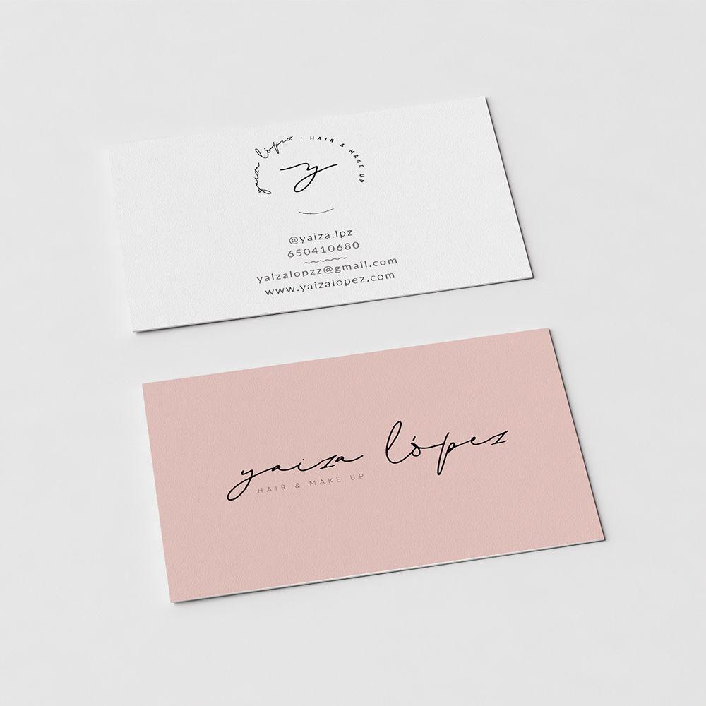 Diseño Logo y Tarjetas de visita para Yaiza Lopez maquilladora | Lovestyle Comunicacion
