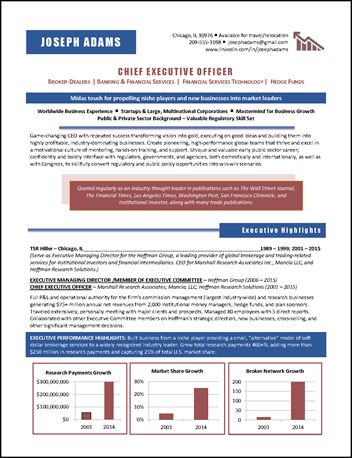 ceo resume example | resume examples | pinterest | sample resume