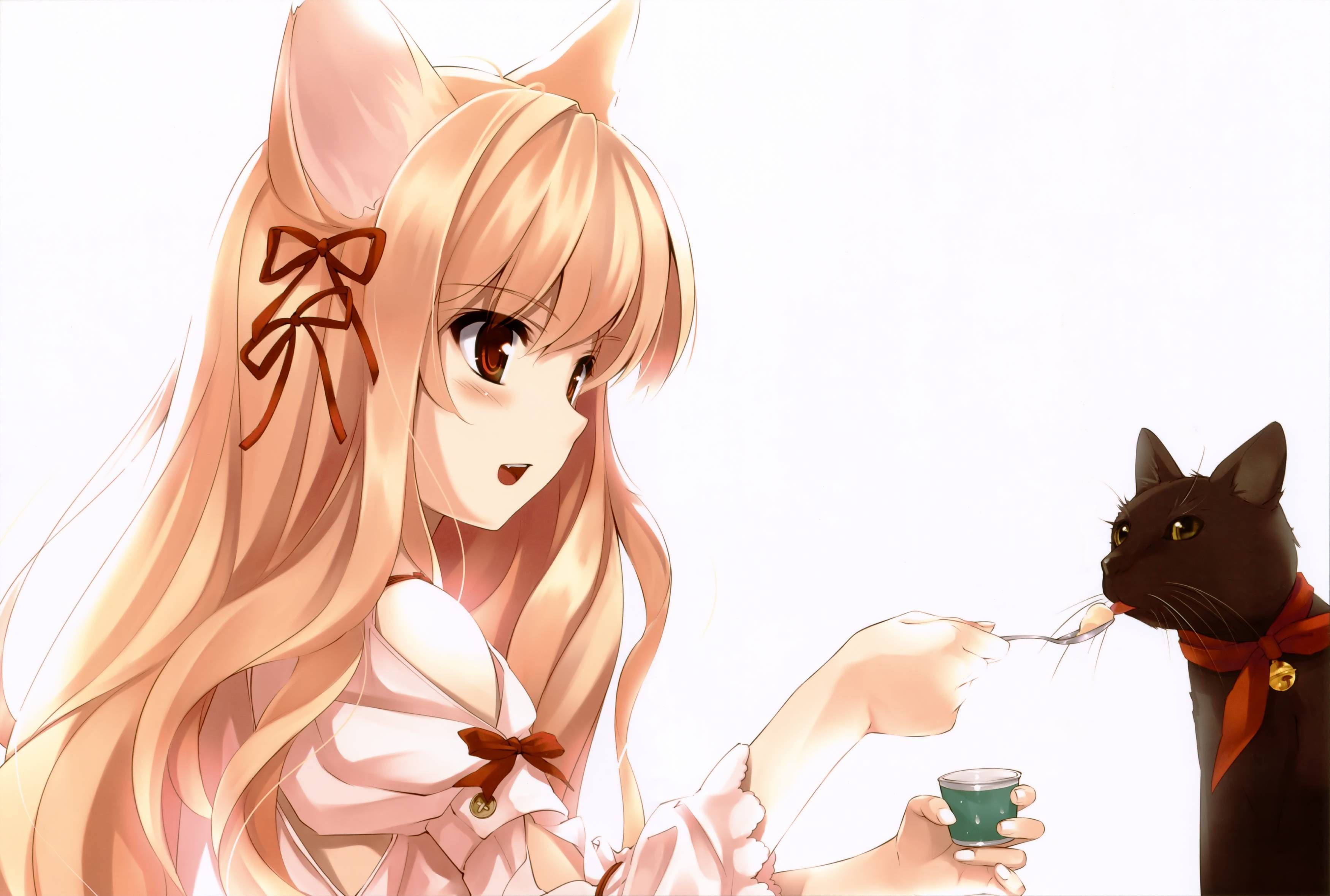 Image Result For Kawaii Anime Neko Girl Wallpaper Kawaii