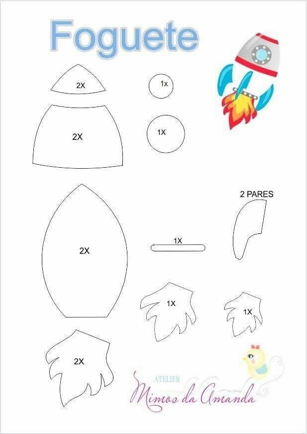 Pin von Angel Dias auf moldes | Pinterest | Raketen, Weltall und Filz
