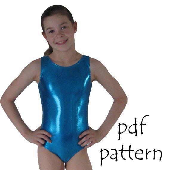 00bedc89b119 Leotards 1 pattern gymnastics gym ballet dance girls pdf sewing ...