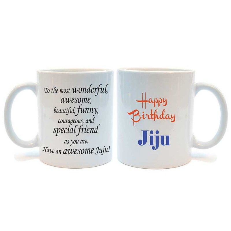 Happy Birthday Jiju Printed Coffee Mug By Juvixbuy Birthday Mugs