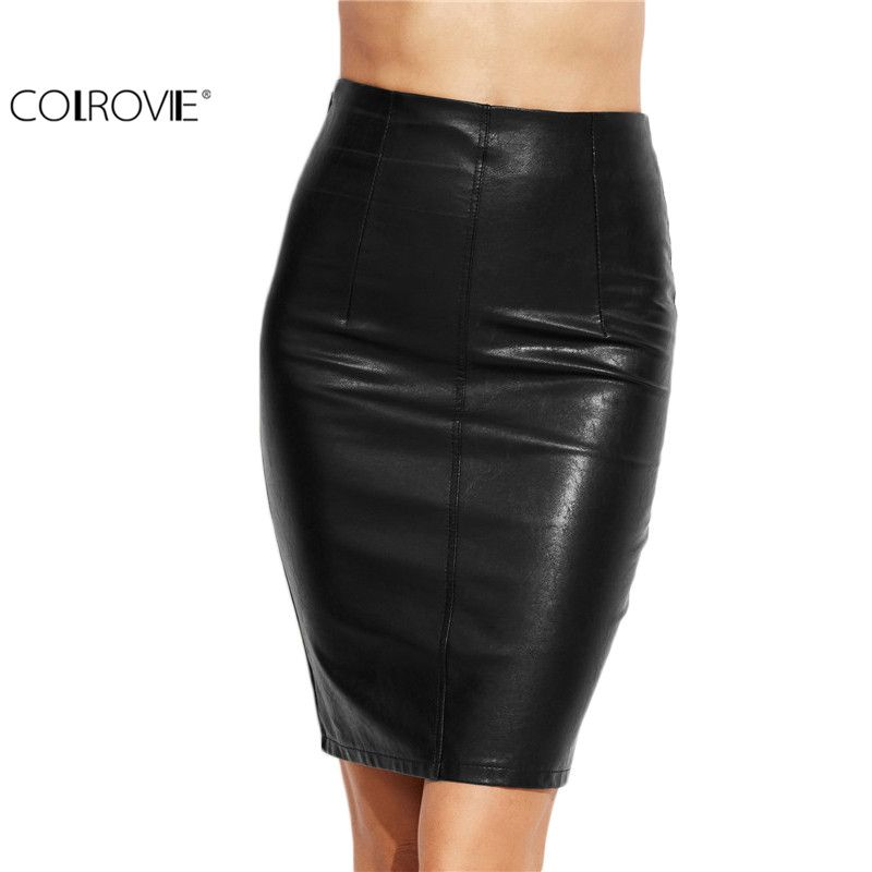 6bc09c160f86 Aliexpress.com : Buy Fashion Clothes Woman Skirts 2017 Female Sexy Clothing  Spring Summer Punk High Street Stylish Black Bodycon PU Leather Skirt from  ...