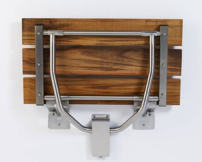 Teakwood Rectangular Fold-Down Shower Seat | new house ideas ...