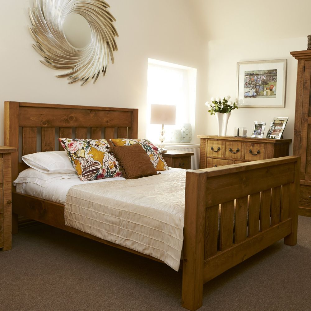 Wingfield Plank Bed Available In Store And Online At Curiosity Interiors Chunky Plank Wooden Bed And Bed Rustic Bedroom Furniture Furniture Wood Bedroom Sets