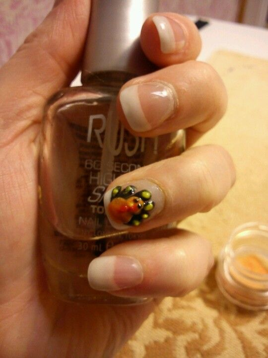3d Turkey Nail Art Nails Pinterest Thanksgiving Nails And Nail