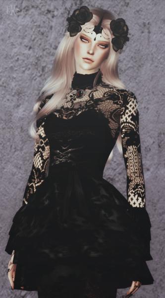ˈtɒksɪk sims 4 gothic dress #ts4cc #dress #clothes #goth ...