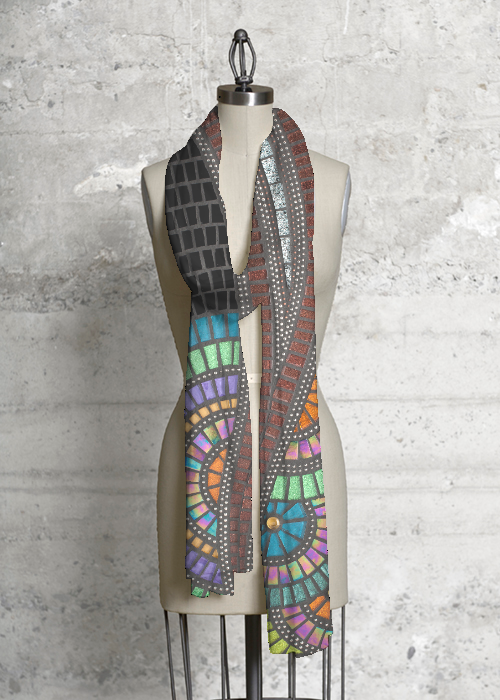 Modal Scarf - abstract pastel by VIDA VIDA FzgQoFR