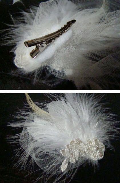 Crafty feather facinator for hair