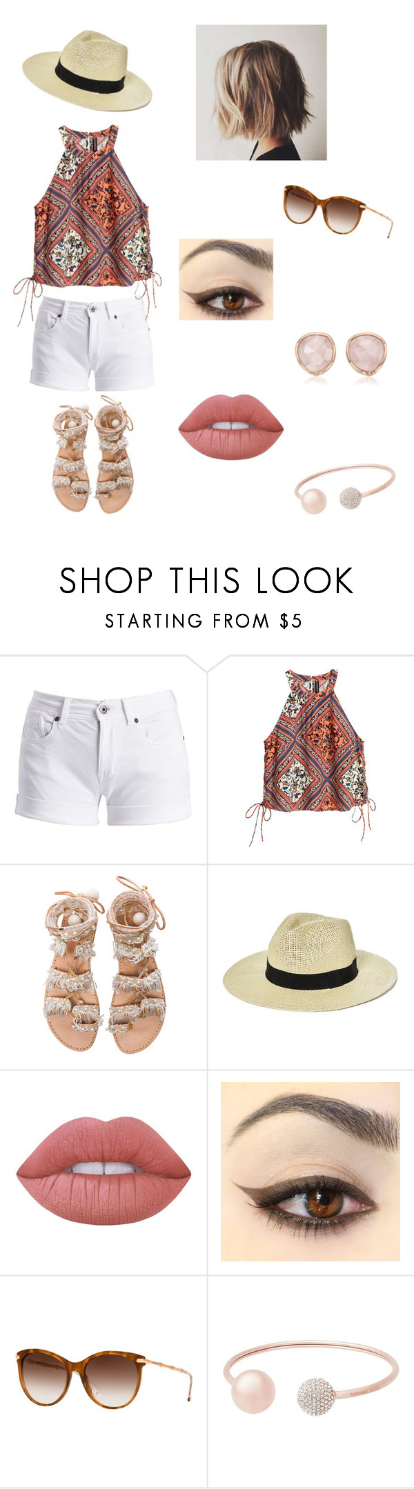"""jump right over into cold, cold water"" by chandagrace ❤ liked on Polyvore featuring Barbour International, H&M, Elina Linardaki, Boohoo, Lime Crime, Gucci, Michael Kors and Monica Vinader"