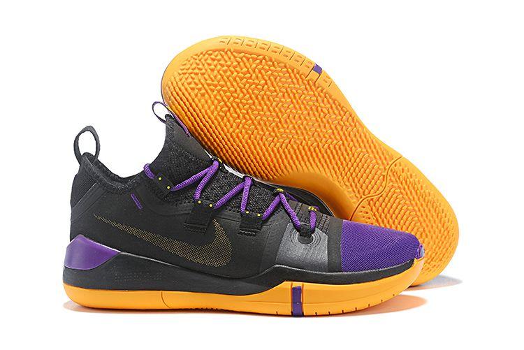 online store a75d5 0d28f Nike Kobe AD Black Lakers Purple-Yellow