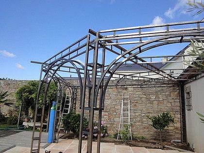 Temis Pergola Acier Verre En Angle Pergola Acier Pergola Construction Bois