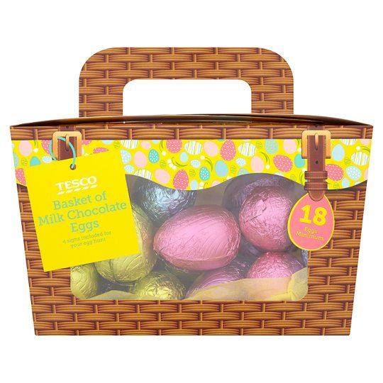 Tesco basket of milk chocolate easter eggs 340g groceries tesco basket of milk chocolate easter eggs 340g groceries tesco groceries negle