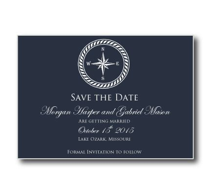 nautical save the date card nautical compass printable save the date card