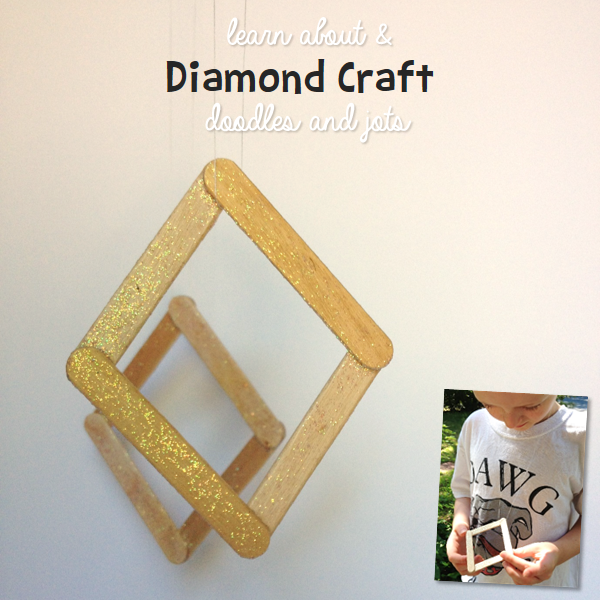 Diamond Craft For Kids With Educational Link Geology