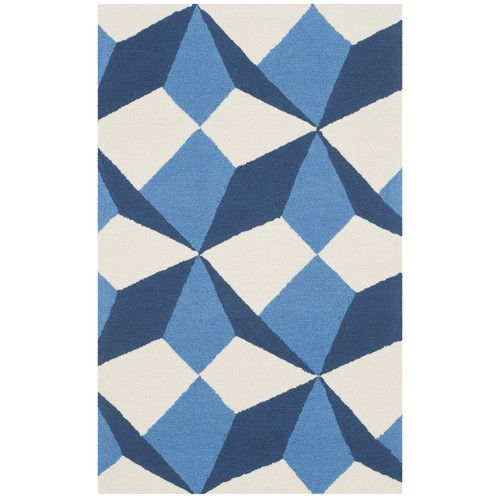 Found it at Wayfair - Four Seasons Ivory/Blue Area Rug