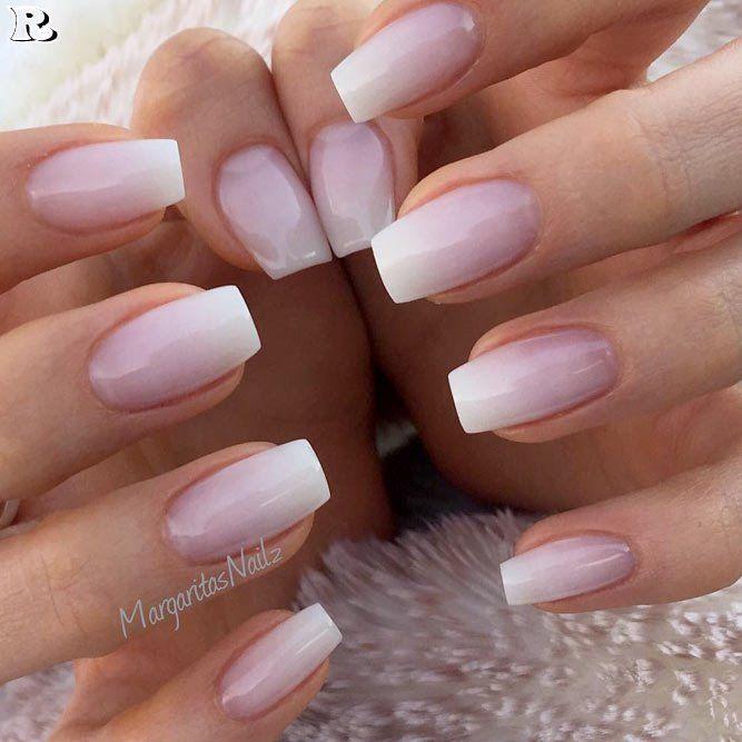 gel nail and french mani