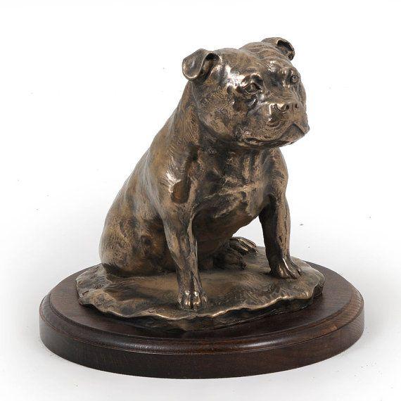 Staffordshire Bull Terrier dog wooden base by ArtDogshopcenter