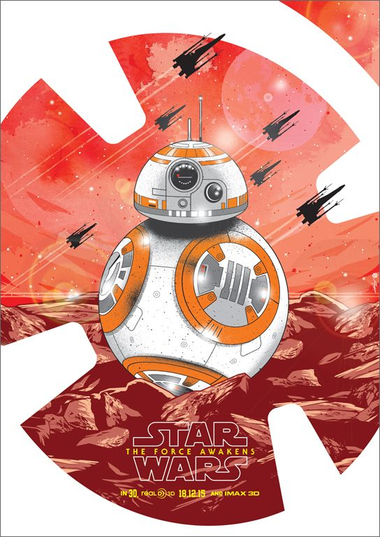 BB-8 -Movie poster,©Lucasfilm.