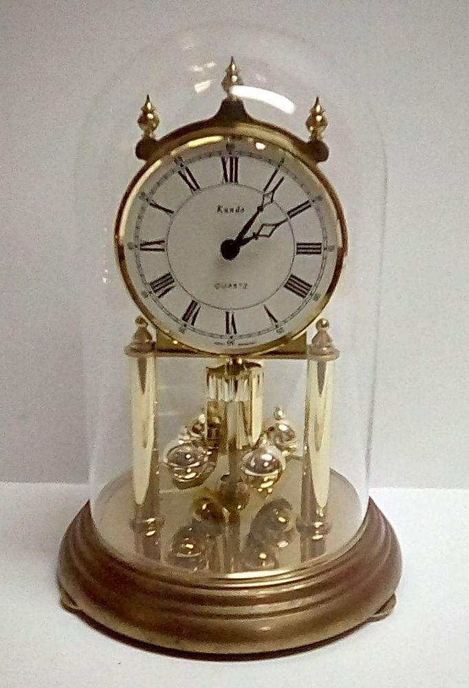 Dombs Garderobekast Wit.Details About Vintage Schatz Anniversary Clock Glass Dome Made In