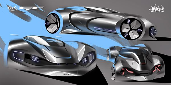 The sketches for Kia GT