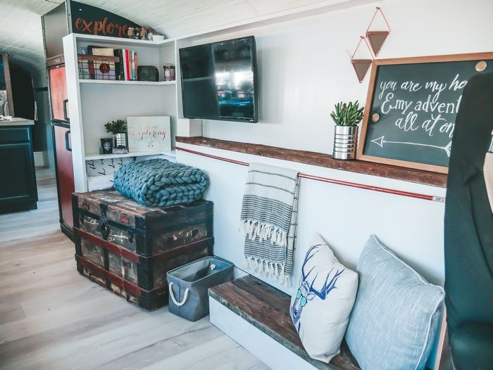 Family bought $5K bus and turned it into stunning ... on home real estate, home sports, home shopping, home life, home computers, home teaching, home photography, home school,