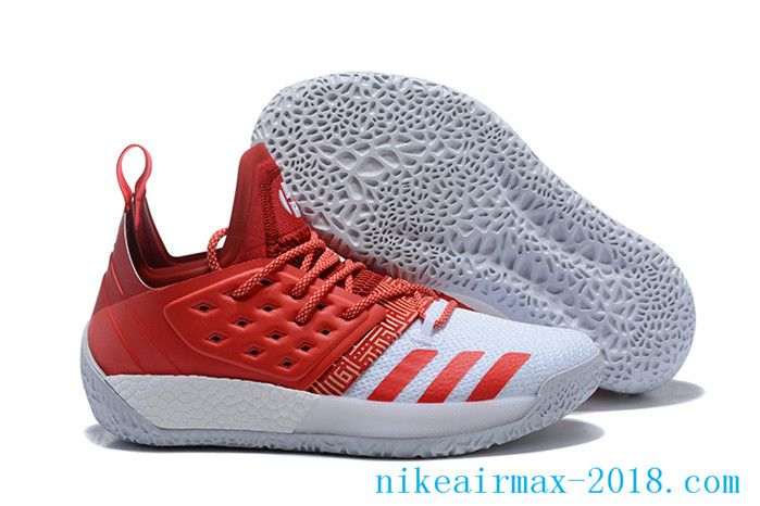 2c1bea42a93 2018 Latest James Harden Mens Basketball Shoes Harden Vol.2 Red White