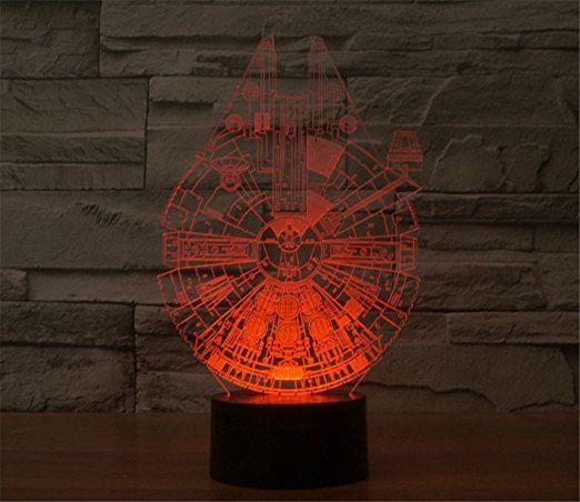 Charmant SmartEra 3D Optische Täuschung Star Wars Serie, Millennium Falcon Modell, 7  Farbwechsel USB Touch Taste LED Schreibtisch Tabellen Licht Lampe:  Amazon.de: ...