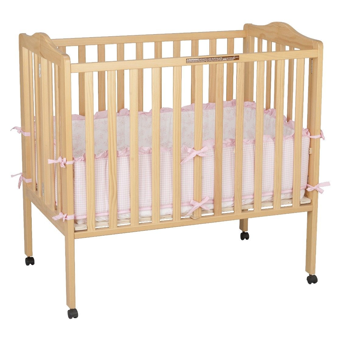portable mini crib beautiful bedding mattress for