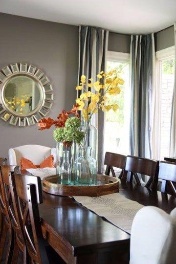 Ideas y adornos para mesa de comedor rectangular | Arreglos De Mesa ...