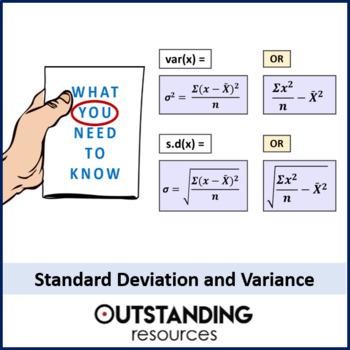 Standard Deviation And Variance 2 Worksheets Standard Deviation Math Lessons Math Tutor