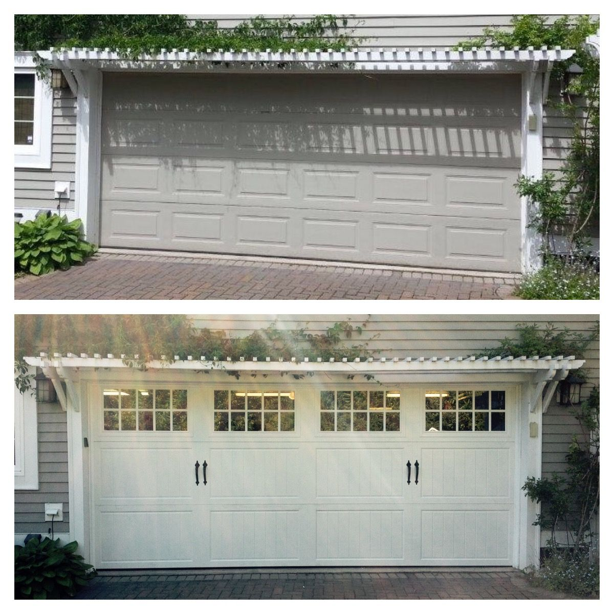 Classica northampton garage door white 9 x 8 no windows - Amarr Classica Collection Cortona Panel In Woodgrain Walnut Madeira Windows Before And After Pinterest Garage Doors Door Design And Garage Door