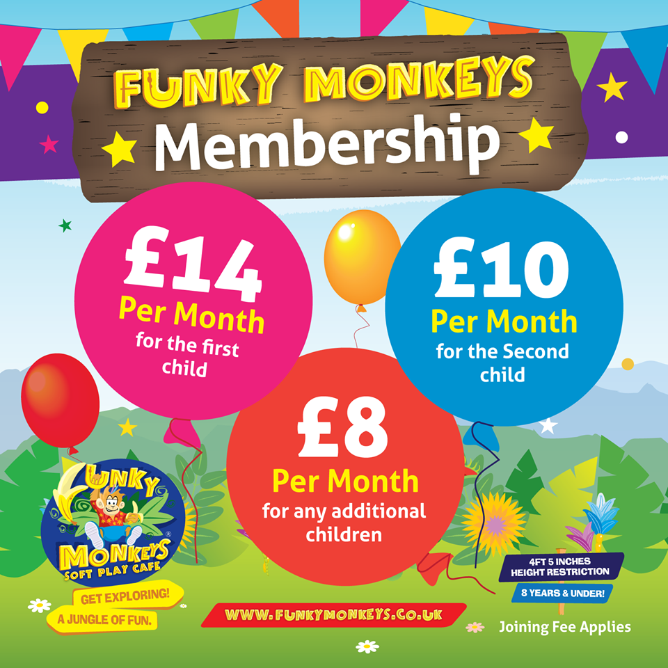 Become a member at Funky Monkeys Soft Play at New Square ...