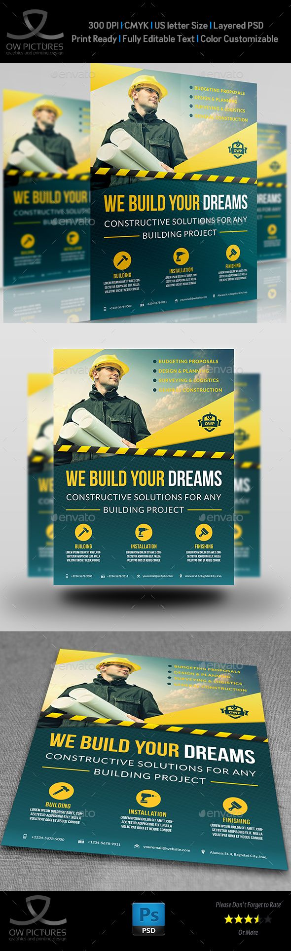 Construction business flyer vol4 construction business business construction business flyer template psd download here httpgraphicriveritemconstruction business flyer vol416686020refksioks wajeb Images