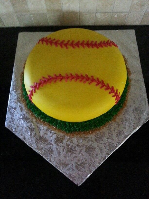 Brilliant Softball Cake Diy Ideas In 2019 Softball Birthday Cakes Personalised Birthday Cards Paralily Jamesorg