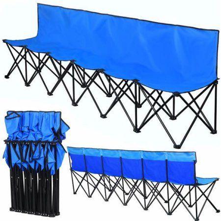 Outstanding Free Shipping Buy Yaheetech 6 Seats Folding Portable Sports Dailytribune Chair Design For Home Dailytribuneorg