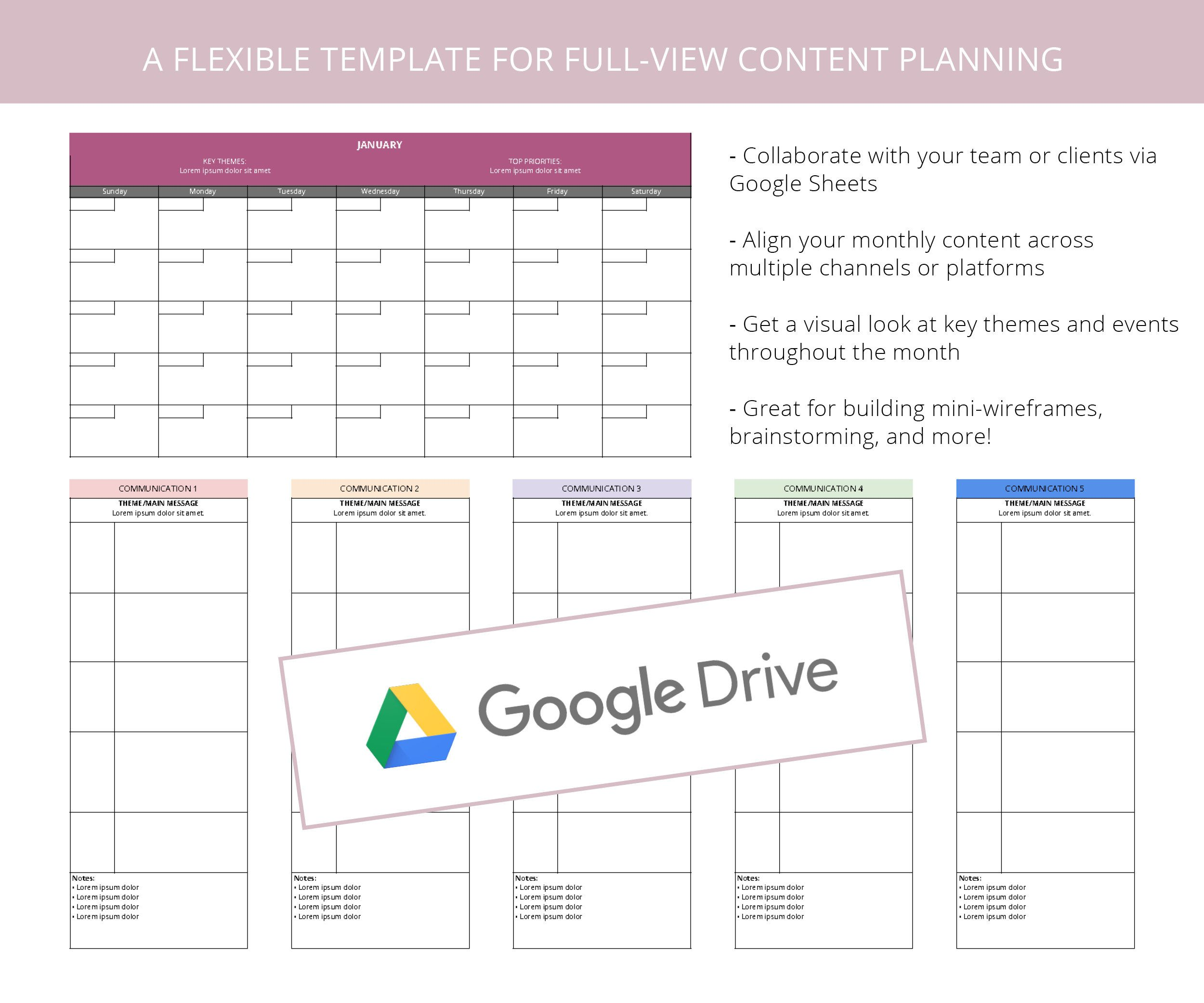 Two Dollar Time Saver Download A Pre Made Google Docs Google Sheets Template For Planning Your Monthly Content Strategy Stock Market How To Plan Google Docs