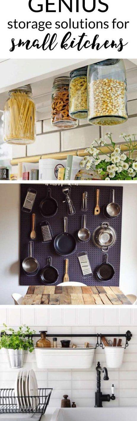 Small Kitchen Storage Ideas #kitchenstorage