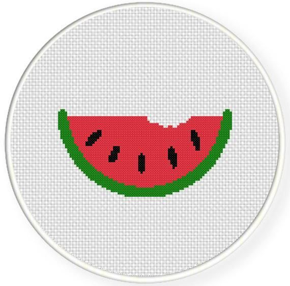 Watermelon Cross Stitch Pattern