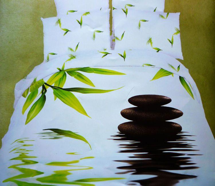 3D Bamboo Comforter Bedding Set Queen Size Duvet Cover Quilt Bed Linen Sheet  Bedspread Bedclothes Bedsheet Oil Painting Cotton US $139.00