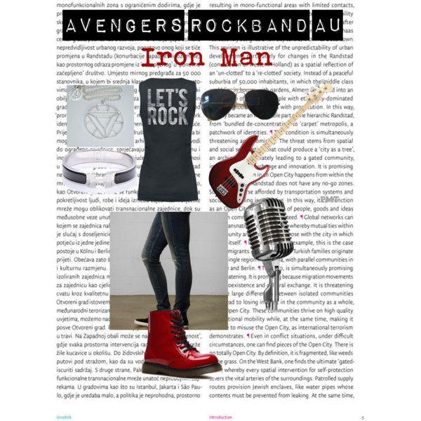 """Iron man rockband au"" by ellalisaratt on Polyvore"