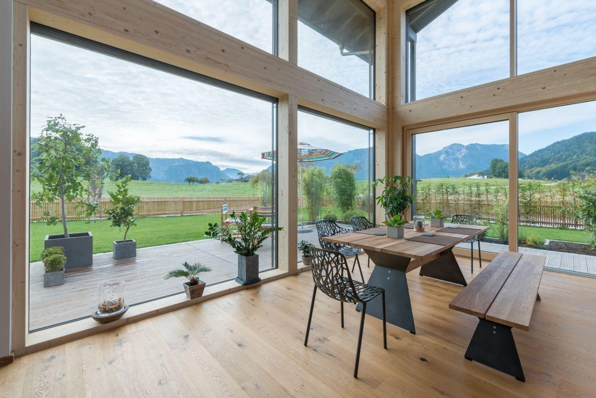 Esszimmer Modern Mit Tisch Sitzbank Rustikal Aus Holz Haus Ideen